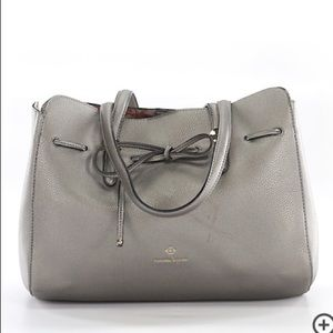 Nanette Lepore Arabelle Grey Shoulder Bow Purse